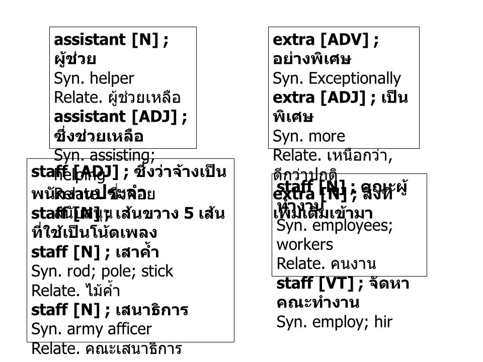 assistant [N] ; ผู้ช่วย